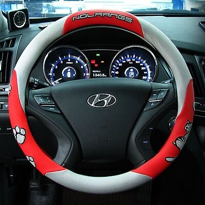 Gauss Premium Steering Wheel Cover - NOLRANGS Red Cat's Paw Pattern new 38 cm