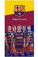 Barcelona Soccer Team 5 Players Beach Towel