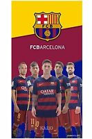Barcelona Soccer Team 5 Players Beach Towel