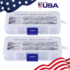 2x Dental Mini Orthodontic Accessories Injection Mould Starter Kit Quick Built