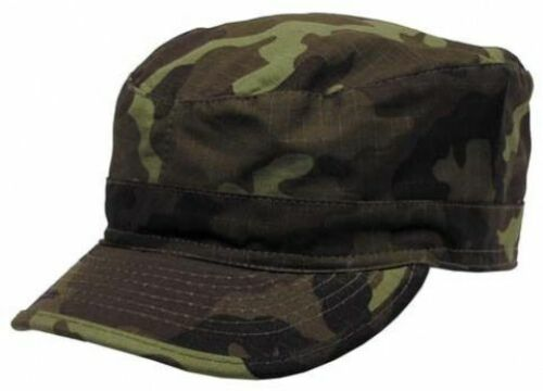 New Mens US Army Style BDU Field Combat RIPSTOP Baseball Cap CZECH WOODLAND CAMO
