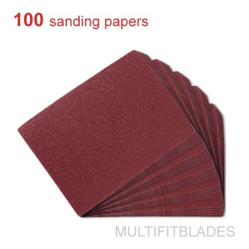 100 Pack 120 Grit Profile Sanding Replacement Sheets Sheets Oscillating Tool