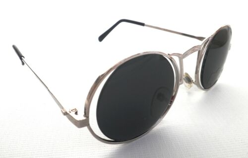 Sonnenbrille Nickelbrille in Silber//Graublau Retro Vintage 70er Rar UNISEX 69