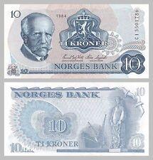 Norwegen / Norway 10 Kroner 1984 p36c unz.