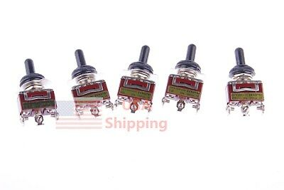 Momentary SPDT 5Pcs 3Position ON-OFF-ON Toggle Switch/& 5pcs Waterproof Cover Cap