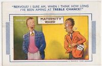 Maternity Ward, Treble Chance, Bamforth Comic Postcard, B581