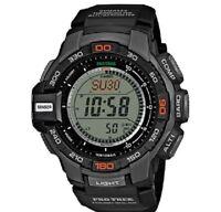 Casio Protrek Triple Sensor Watch Prg-270-1er Solar Resin Black & Tags Box