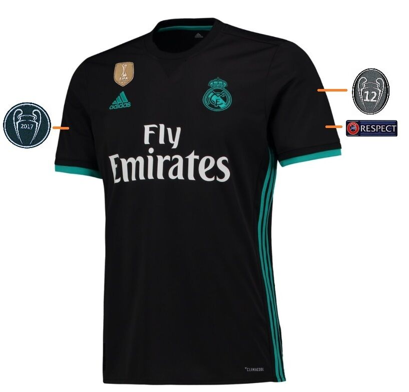 Trikot Real Madrid 2017-2018 Away UCL UCL UCL - Casemiro 14  Champions League  | Niedrige Kosten