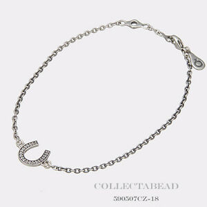 99de2c30b9a81 Details about Authentic Pandora Silver Symbol Of Luck Horseshoe With CZ  Bracelet 6.3