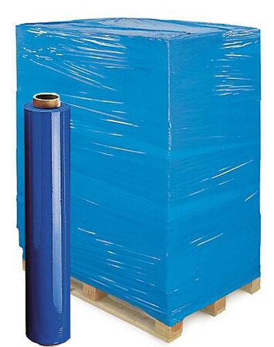 Film estensibile azzurro 2 rotoli pellicola fascia pallet pedane h50cm 23my