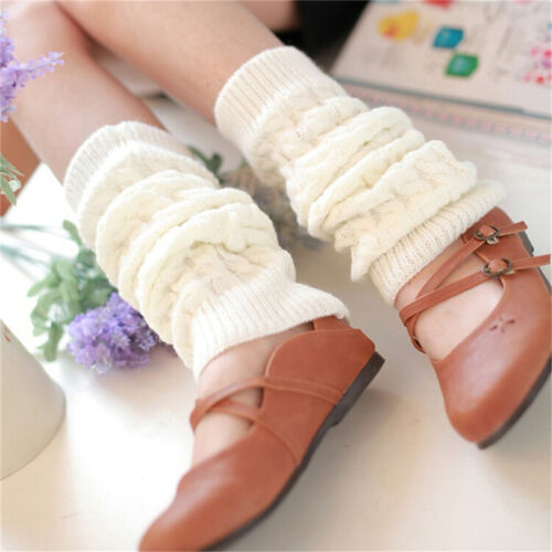Womens Winter Knit Crochet Knitted Leg Warmers Legging Boot Cover Hot Fashion FO