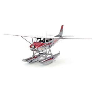 Metal-Earth-Cessna-182-Floatplane-Laser-Cut-DIY-Aircraft-Model-Hobby-Kit-plane