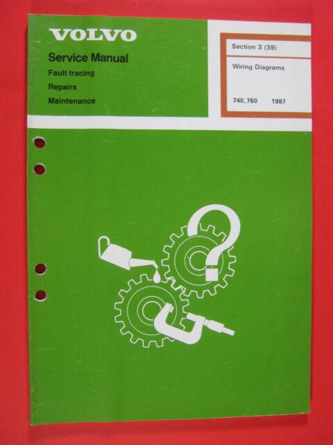Volvo Repair Service Manual Wiring Diagrams 740 760 1987