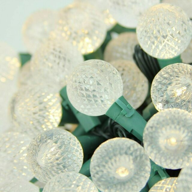 100 Count G30 Globe Red//White//Green White Wire Christmas Icicle Lights 9.5/'