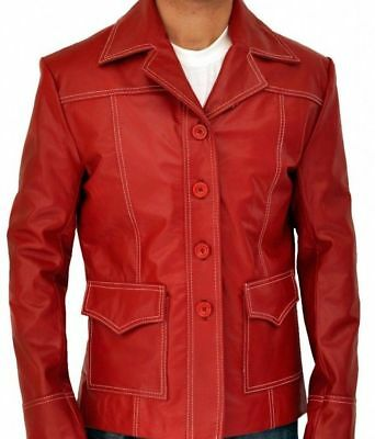 Fight Club Brad Pitt Tyler Durden Halloween Faux Leather Jacket