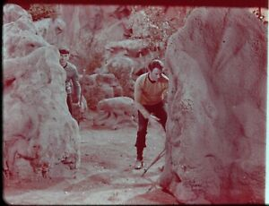 Star-Trek-TOS-35mm-Film-Clip-Slide-Savage-Curtain-Kirk-Spock-in-Rocks-3-22-29