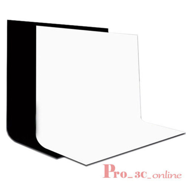 Pro 1.8mx2.8m Black White Cotton Muslin Backdrop Background for Stand Rod Pocket