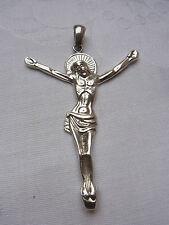 Prachtvoller Kreuz Jesusanhänger Silber 925 Jesus Anhänger Pendant Christus 172