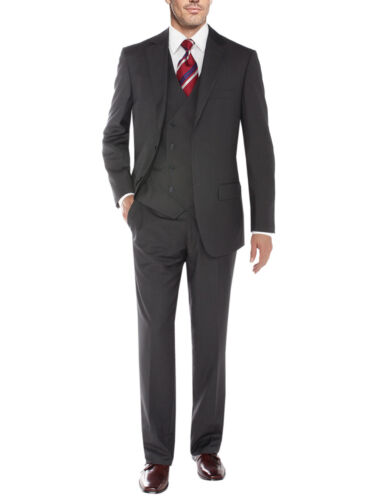 Exte knoops Vested Salvatore 2 Mens delige 3 flat Vest blazer Suit voorbroek 4AddOqHw