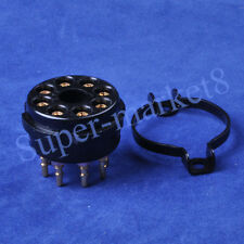 2pcs 8 Pin EL34 6550 KT88 CMC Bakelite Gold Tube Socket