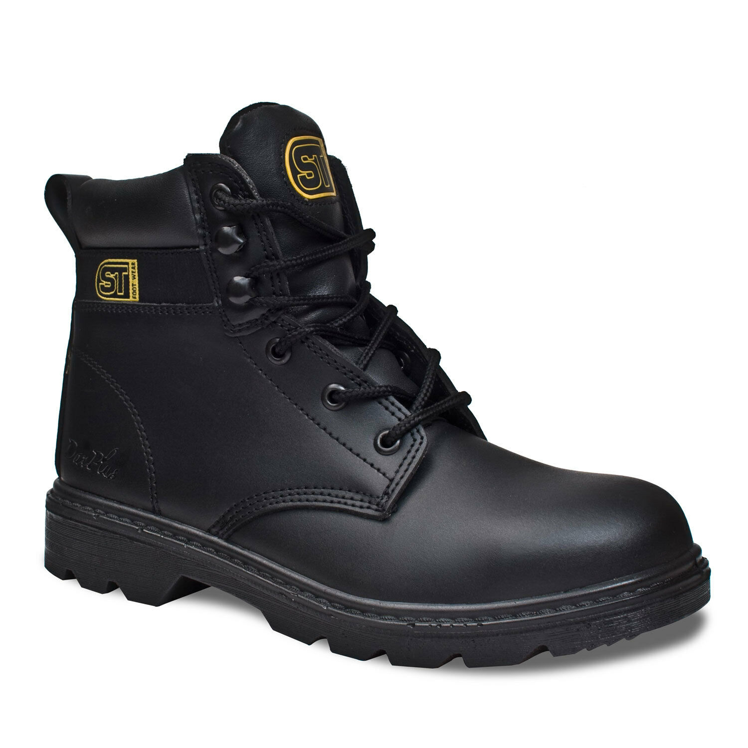 MENS SAFETY WORK BOOTS PREMIUM SUPER  STEEL TOE CAP & MIDSOLE LEATHER SIZE 5-12