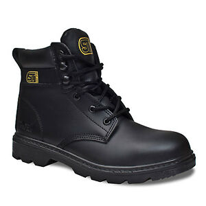 MENS PREMIUM SUPER SAFETY WORK BOOTS STEEL TOE CAP & MIDSOLE ...