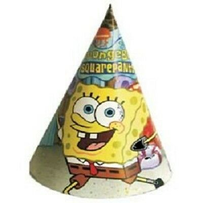 SpongeBob Squarepants Birthday Party Hats Pack of 8 - NEW Sealed in Pack