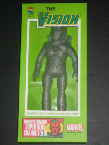 SDCC 2015 COMIC CON EXCLUSIVE VISION SOFUBI CLEAR VARIANT FIGURE MEDICOM MARVEL