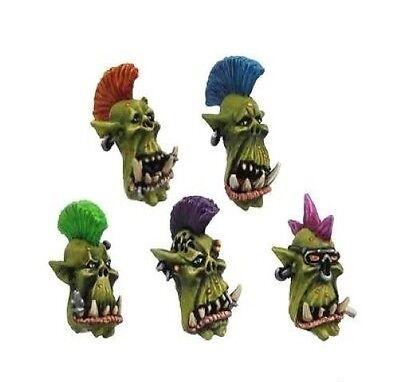Kromlech BNIB Punk Orcs Heads (10)