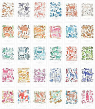 LOT 30PCS Wonder Zoo Postcard Animals Illustration Card Set Bulk #60