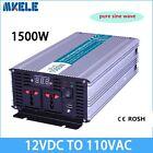 1500W DC12V to AC110V Off Grid Pure Sine Wave Power Inverter LED Display