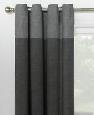 Charlton Home Kennerdell Eyelet Curtains Charcoal 168x229cm
