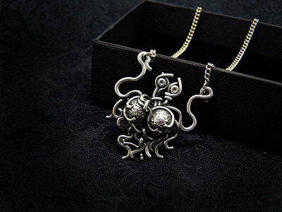 flying spaghetti monster necklace sterling silver 925 FSM Pastafarian church