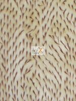 Spike Shaggy Faux Fur Fabric-light Mocha/brown Spikes-long Pile Fur-sold Bty