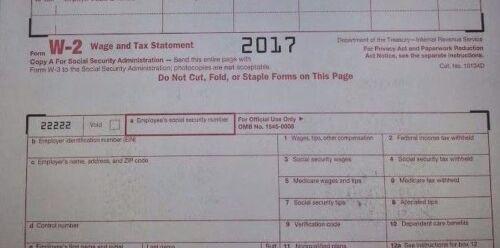 2017 5 SHEETS W-2 IRS Wage//Tax Statement /& 3= W-3 Transmittal Forms
