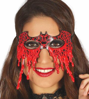 Bloody Black Bat Halloween Masquerade Mask Dripping Blood Vampire Mens Womens