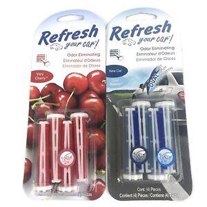 00120f46bc9 Refresh Your Car Odor Eliminating Auto Vent Stick Car Air Freshener ...