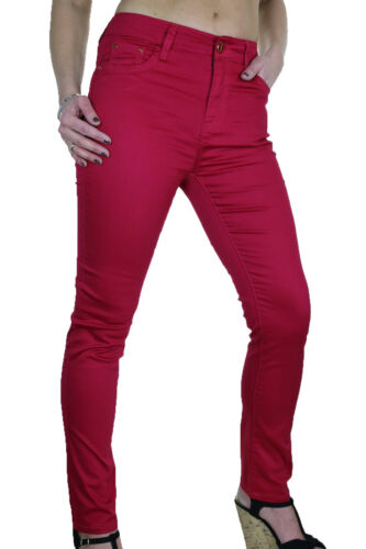 Womens Plus Size Stretch Skinny Jeans Chino Sheen Rose Red size 10 ICE 1478-3