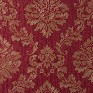 Image Is Loading Exclusive Sparkle Glitter Red Gold Damask Heavy Weight