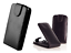 miniatuur 12 - Housse Etui Coque Luxe (CUIR NOIR) ~ HTC ONE X