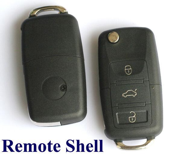 B5 3-Taste Funkschlüssel Schlüssel Gehäuse Transit f VW Golf Passat Beetle Polo