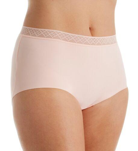 Vassarette Invisibly Smooth Lightweight Mid Rise Rosy Cheeks Brief Size 10//3XL
