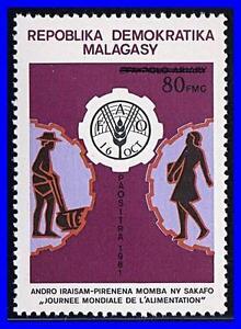 MADAGASCAR-1982-WORLD-FOOD-DAY-MNH-UNO-ONU-K-LM-DEC