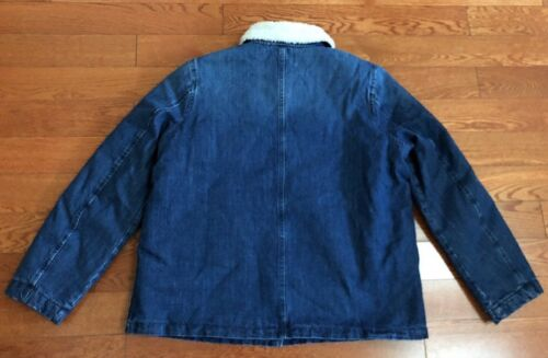 NET J CREW DENIM SHERPA SWING JEAN JACKET IN STANMORE WASH size M