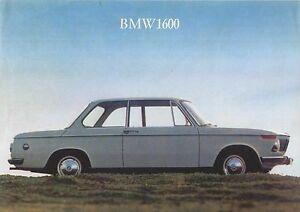 BMW 1600 Coupe 1966-67 Original UK Single Sheet Sales Brochure 02 ...