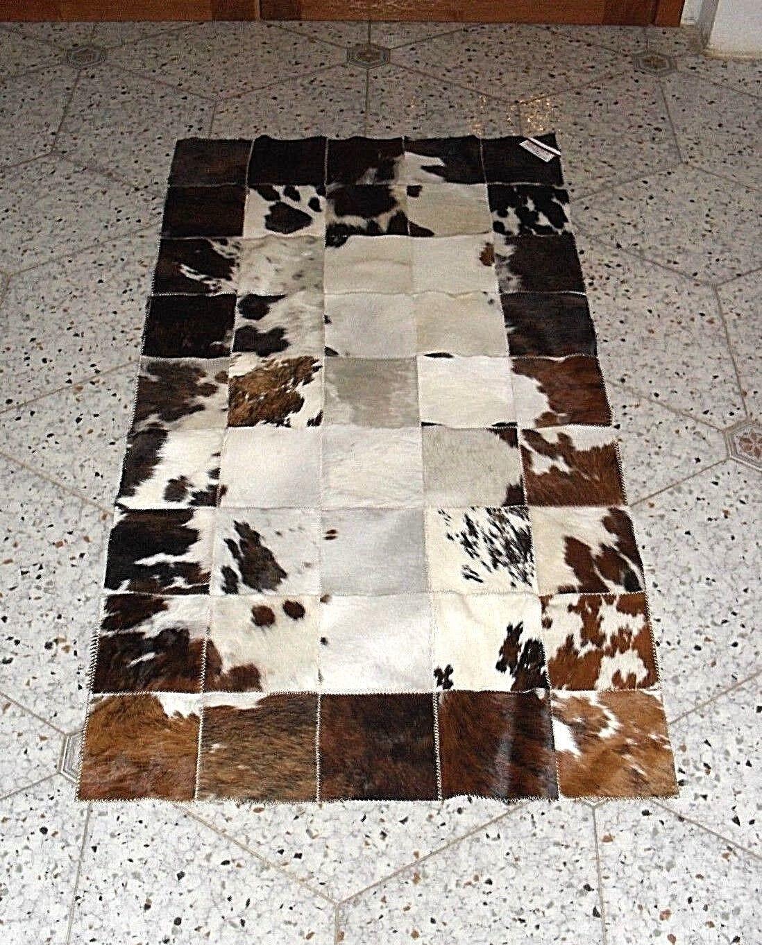 Tapis salon cuir moo Patchwork Mesures 120x60 cm couleurs couleurs cm mélanger sombre b746f2