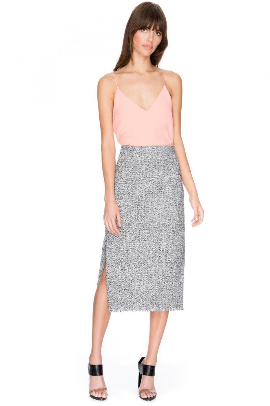 C MEO COLLECTIVE Last Call Heavyweight metallic High waist Skirt Medium NWT
