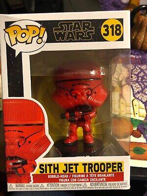 Funko Pop Star Wars Episode 9 Rise Of Skywalker Sith Jet Trooper 318 Ebay