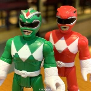 2pcs-Fisher-Price-Imaginext-Power-Rangers-red-amp-Green-Ranger-Action-Figure-Toy