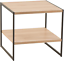 closetmaid 1310 tier square wood side table with stora shelf, natural